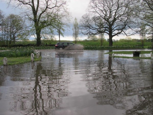 surface water flooding in Old Malton