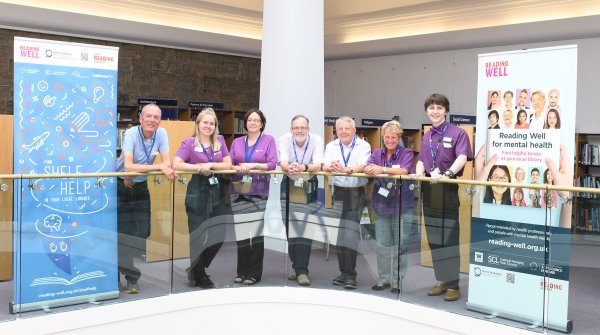 members of the team at the award-winning Harrogate library