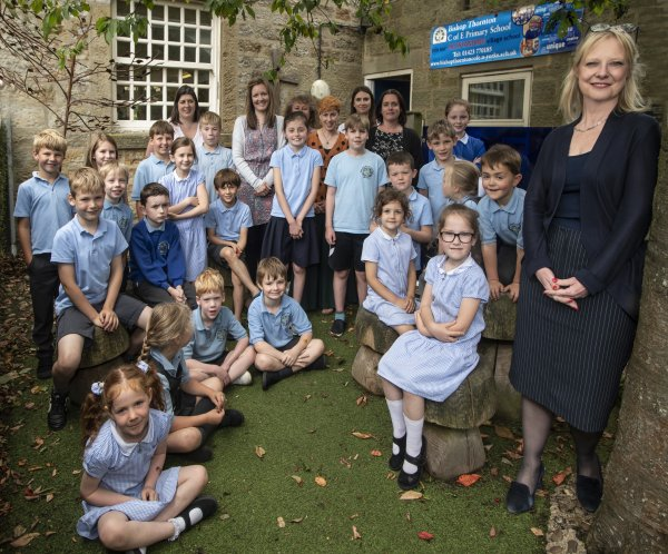 Bishop Thornton village school children