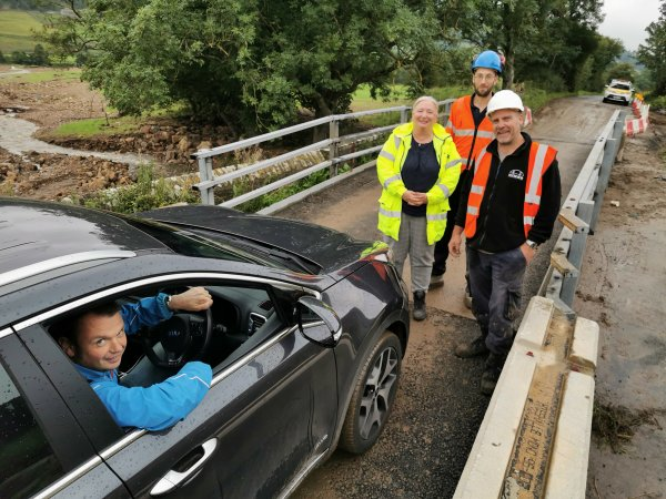 The B6270, which links Grinton and Reeth with the Richmond area of the Dales, suffered severe damage when floods hit the region on July 30 and 31.