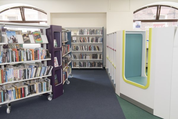 interior of Selby library