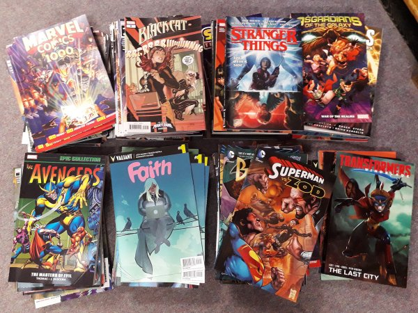 some of the comics in the giveaway
