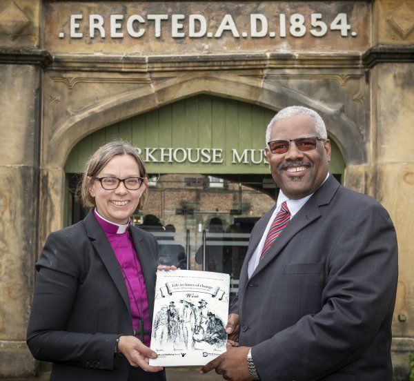 Dr Sargeant and the Bishop of Ripon with the report