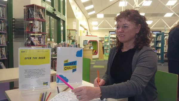 Outreach librarian Adele Duffield ready to welcome budding artists to the challenge