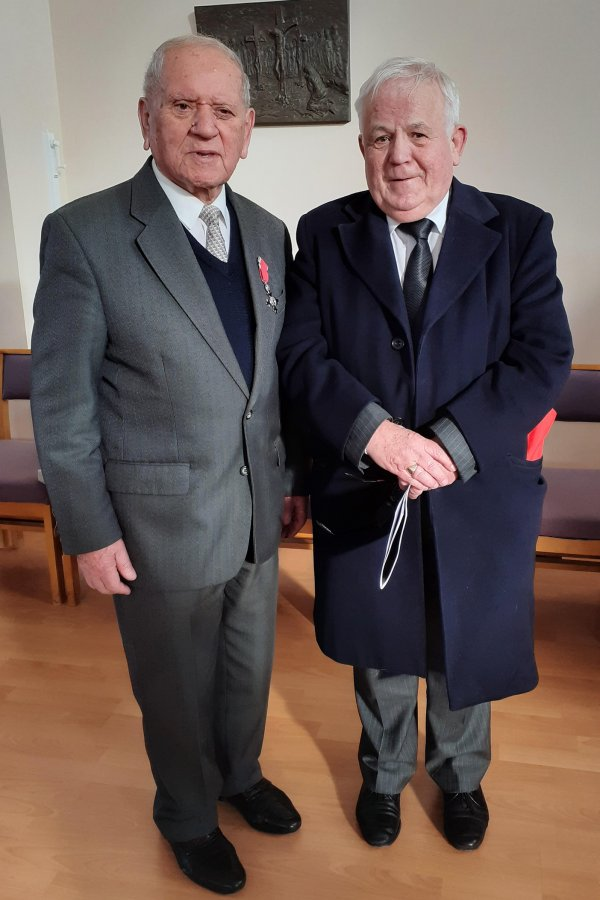 Cllr Jim Clark with Auschwitz survivor Arek Hersh