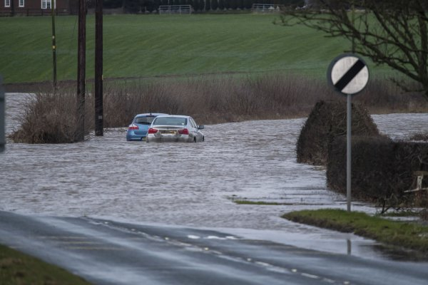 Motorists are advised against driving into flood waters