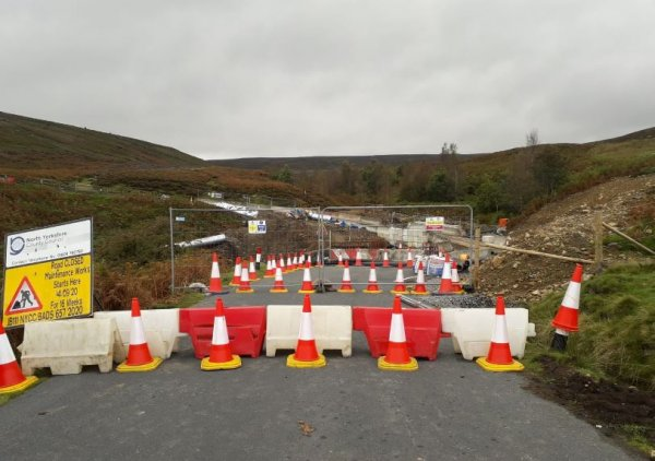 North Yorkshire County Council highways team are carrying out permanent repairs to the bridge on the C106 near Grinton Moor