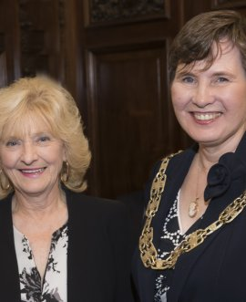 Cllr Helen Swiers takes over the role as chair from Cllr Val Arnold.