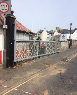 Whitby swing bridge gate repaired