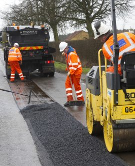 Maintenance work on the highway