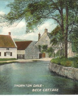 Residents of Thornton-le-Dale have used the view captured on an old postcard to inspire them to improve the beck running through the picturesque village.
