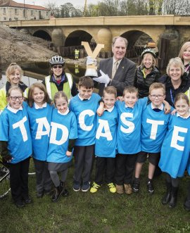 The Tour de Yorkshire Trophies received a great welcome on their second stop while visiting start and finish locations.