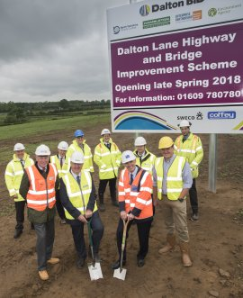 Dalton bridge roadworks project in North Yorkshire
