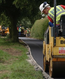 Completion of the final phase of a scheme to upgrade roads around Catterick Garrison has been significantly delayed due to Vodafone works and additional drainage works.