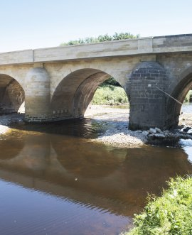 The restored Tadcaster bridge last month