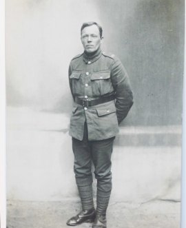 Peter Brown in uniform