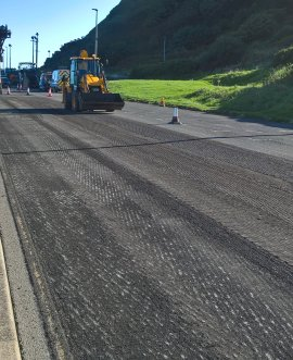 Resurfacing work taking place in Royal Albert Drive
