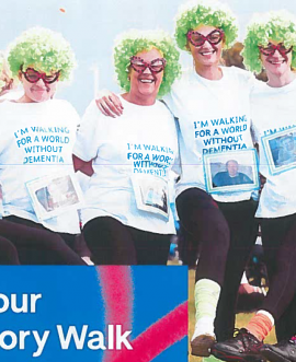 The Unite Against Dementia Memory Walk will take place on Sunday, 17 September