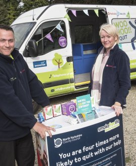 Smokefreelife North Yorkshire's Wellness on Wheels clinic