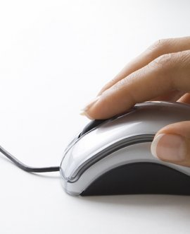 person using a mouse
