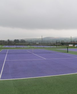 The locality budget allowed the centre to repaint and resurface some of the old courts at Sandylands Sports Centre