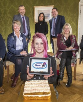 Care leaver Sasha wows business leaders with her cake-bake enterprise