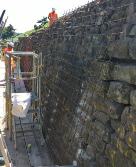 County council contractors begin work to stabilise the wall this week.