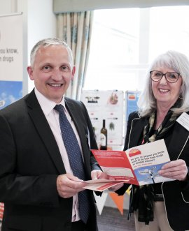 County Cllr Michael Harrison, North Yorkshire's Executive Member for Adult Social Care and Health Integration and County Cllr Caroline Dickinson, Executive Member for Public Health at the Mental Health Summit in Harrogate;