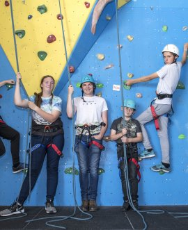 Young people enjoy one of the activities at a recent C-Day organised by the Young People's Council.