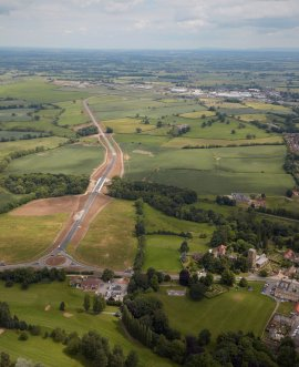 The 4.8km bypass linking the A684 north of Bedale and the A684 east of Leeming Bar opened in August 2016.