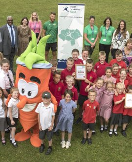 Herbie and friends at the Food for Life celebration event.