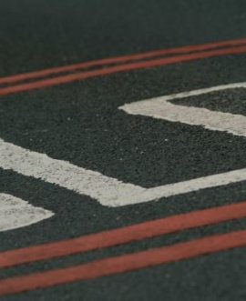 Road surface.