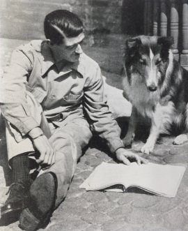 Eric Knight with dog
