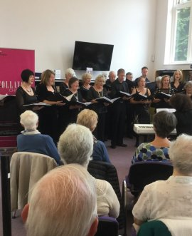 Sing and swing choir at Harrogate library