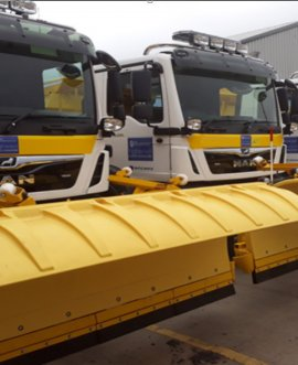Eight new replacement gritters have been added to the fleet, making a total of 86