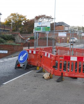 Somerset Terrace is closed temporarily following the discovery of a void beneath the road