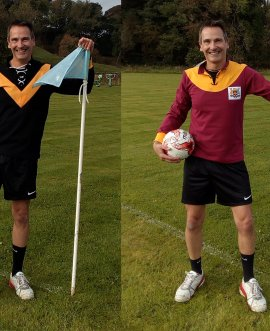 The replica football jerseys with the Black Burton kit on the left and Bradford City right