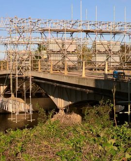 The Haddlesey bridge scheme is now into its sixth week
