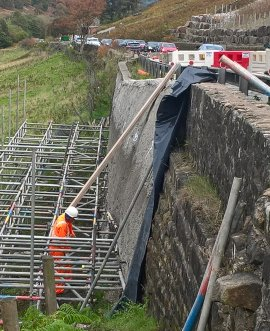 permanent repairs under way at Kex Gill