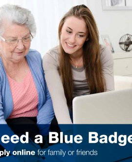 Blue badge parking permits are issued to disabled people for a small charge of £10