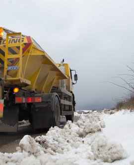 North Yorkshire gritter out and about on the high roads