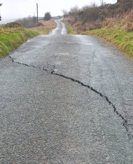 Repairs to the first landslip will require a full road closure