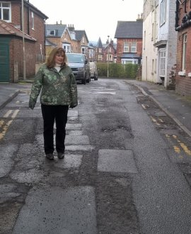 Councillor Liz Colling in New Park Road