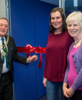 the opening of Tadcaster library pod