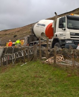 Repairs on the A59 at Kex Gill