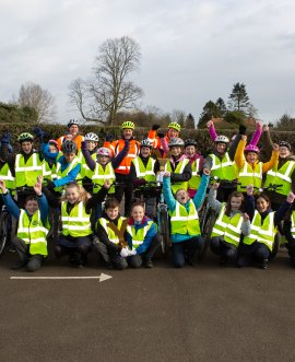 Cawood Primary school bikeability class with the trophies