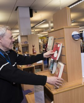 A volunteer at Northallerton library