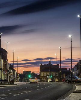 LED street lights as part of our energy reduction programme