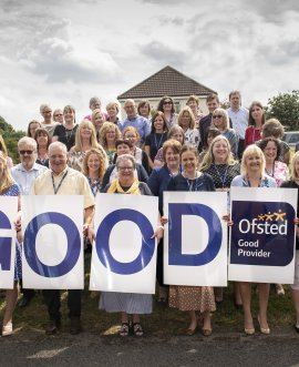 Staff and learners celebrate a good Ofsted rating