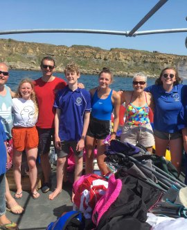 •	members of Kingfishers Swimming Club involved in the cross-Channel relay